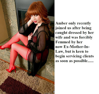 Amber was being caught crossdressed