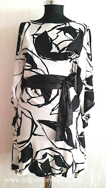 www.nilgunozenaydin.com-tunik-kimono elbise-kimono dikimi-sewing a kimono-kolay dikiş-resimli elbise dikimi-resimli tunik dikimi