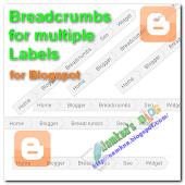 Điều hướng Breadcrumbs cho nhiều Labels với CSS trong Blogger/Blogspot