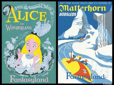 Disneyland Annual Passholders free calendar Ride Posters
