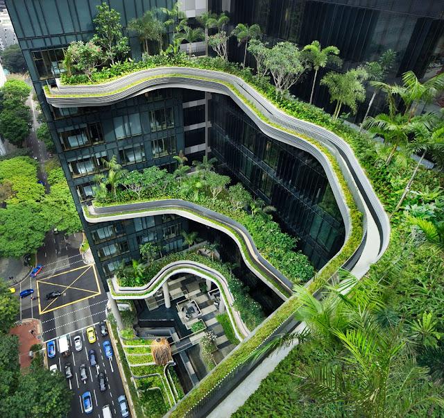 Inovasi desain hotel hijau singapore ini memiliki 6 kebun for Design hotel jewel prague tripadvisor