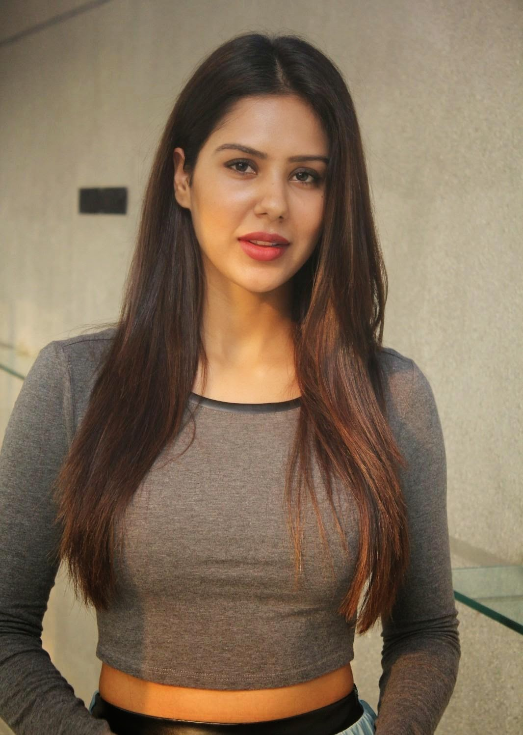 Sonam Bajwa HD Closeups in a liovely Cream Deep Neck Gown WOW Beautiful Pics
