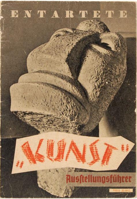 The program for the degenerate art exhibition