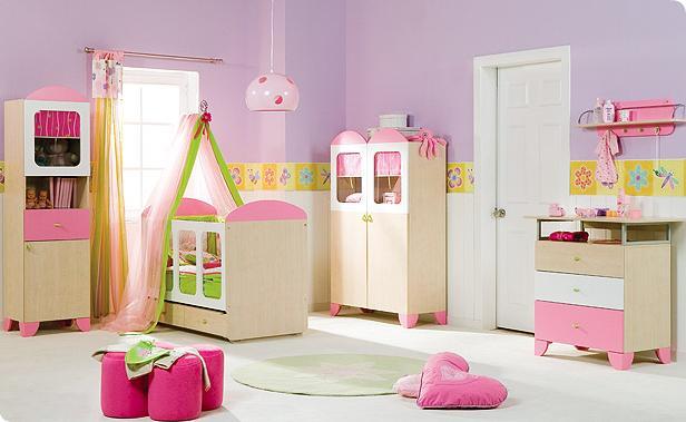 Fazendo arte cores e tom decora o de quarto de beb feminino - Fotos de habitaciones para bebes ...