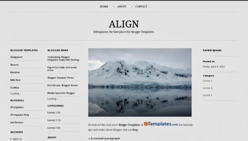 Align Simple Responsive Blogger Template 2014 for blogger or blogspot theme