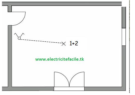 Super schémas électricité maison: schéma électrique interrupteur double FD18