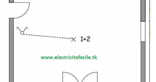 sch u00e9mas  u00e9lectriques  sch u00e9ma  u00e9lectrique interrupteur double