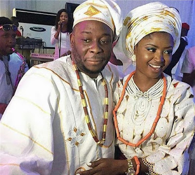 Photos From Comedian Jedi And New Wife Olajumoke's Traditional Wedding Today