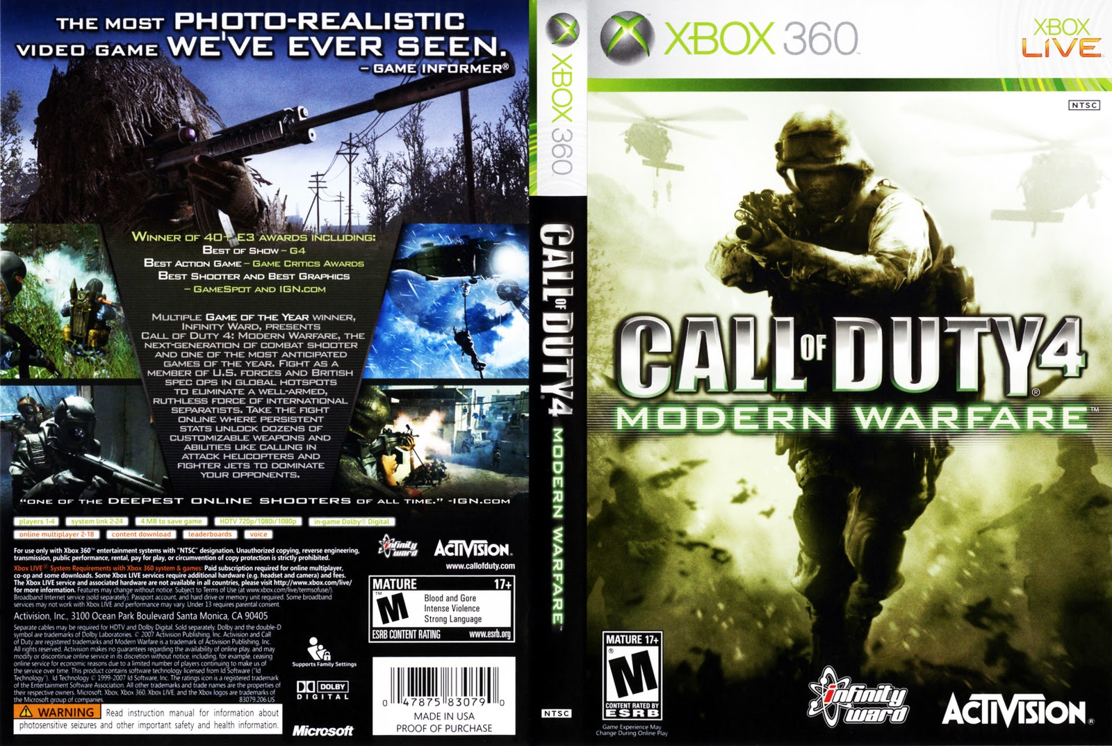 xbox 360 call of duty: