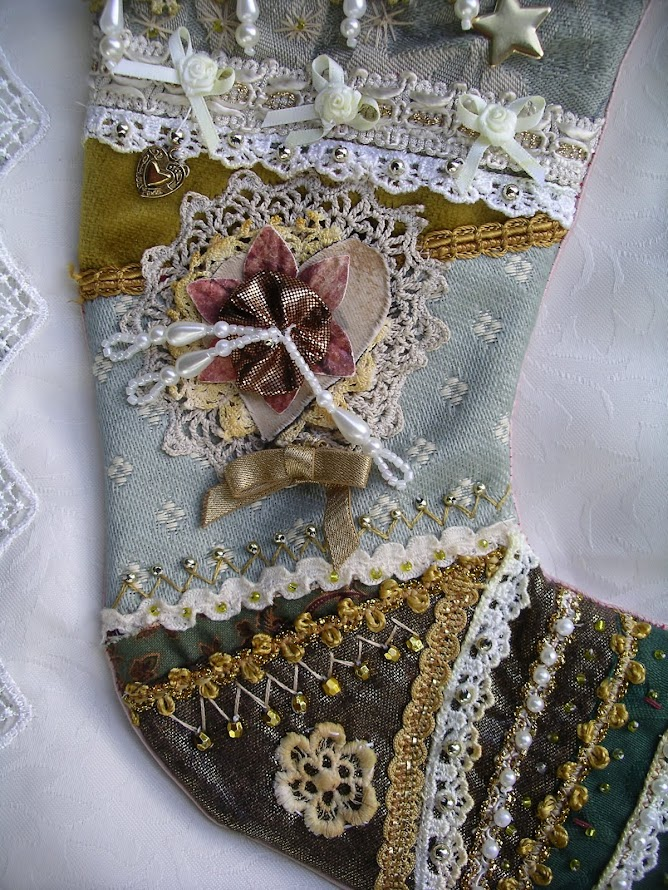 New listings of stockings in my Etsy shop.