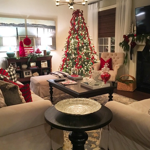 Pottery Barn Christmas Decorations With Tree Skirt