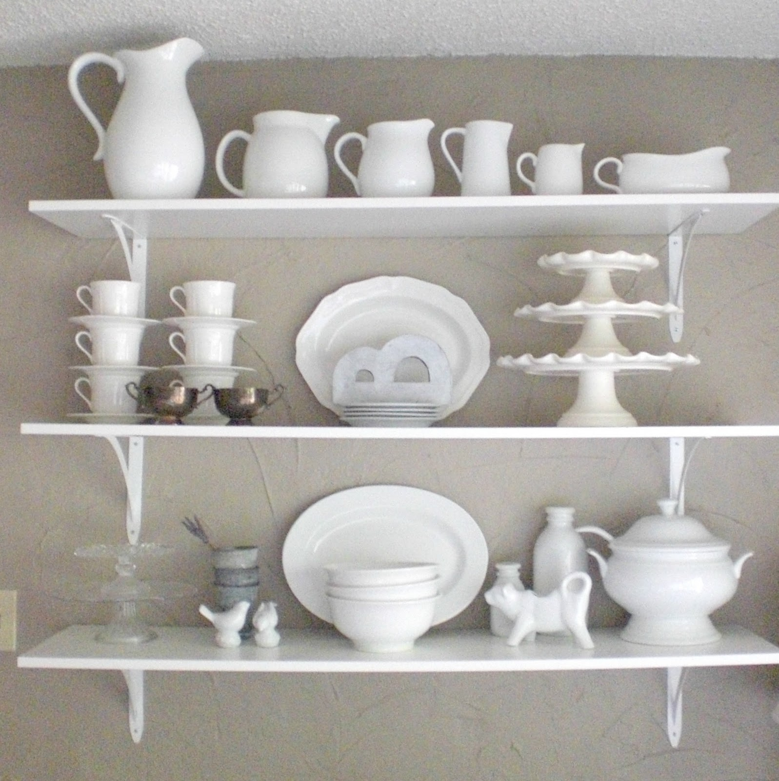 White Kitchen Shelf: 12th And White: Kitchen Shelves