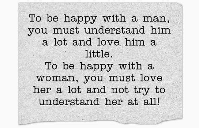 Đàn ông hiểu nhiều yêu ít, phụ nữ yêu nhiều và đừng hiểu