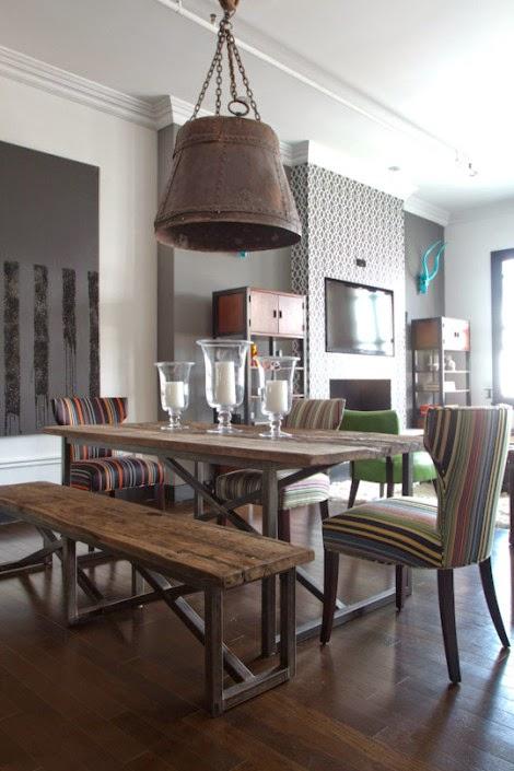 Decora hogar decoraci n de comedores estilo industrial for Proyecto comedor industrial