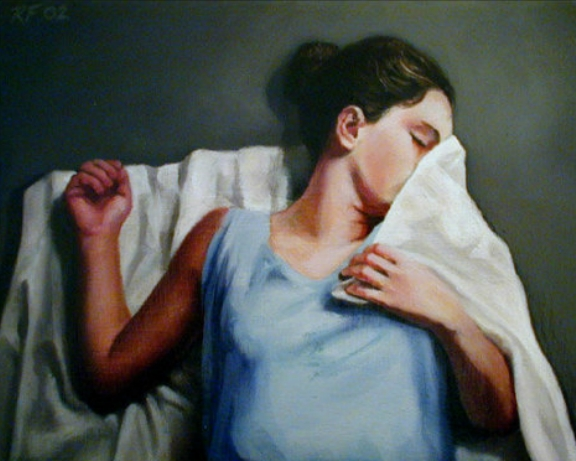 Solitude | Rachel Ferguson - American Figurative painter