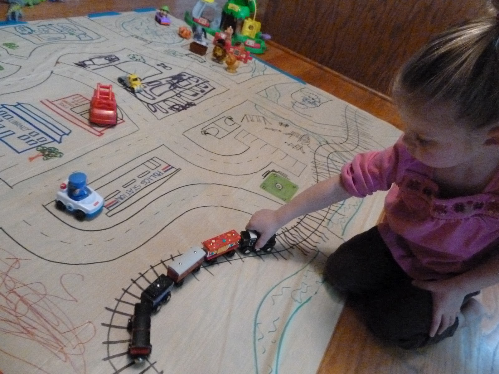 Sometimes Creative Tablecloth Town Play Mat
