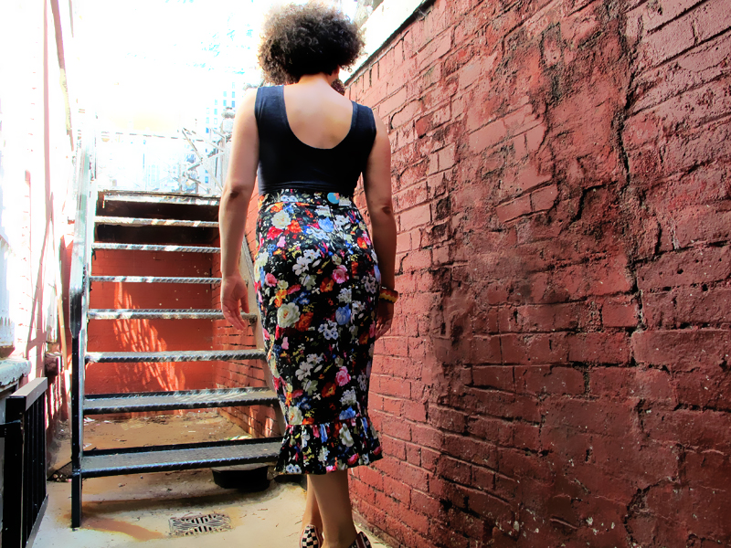 Oonaballoona | An Indie love affair: Sewing up By Hand London's Charlotte Skirt and Closet Case Files' Nettie bodysuit