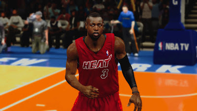 NBA 2K13 Miami Heat Christmas Jersey