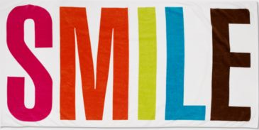 Smile Beach Towel from Bloomingdales