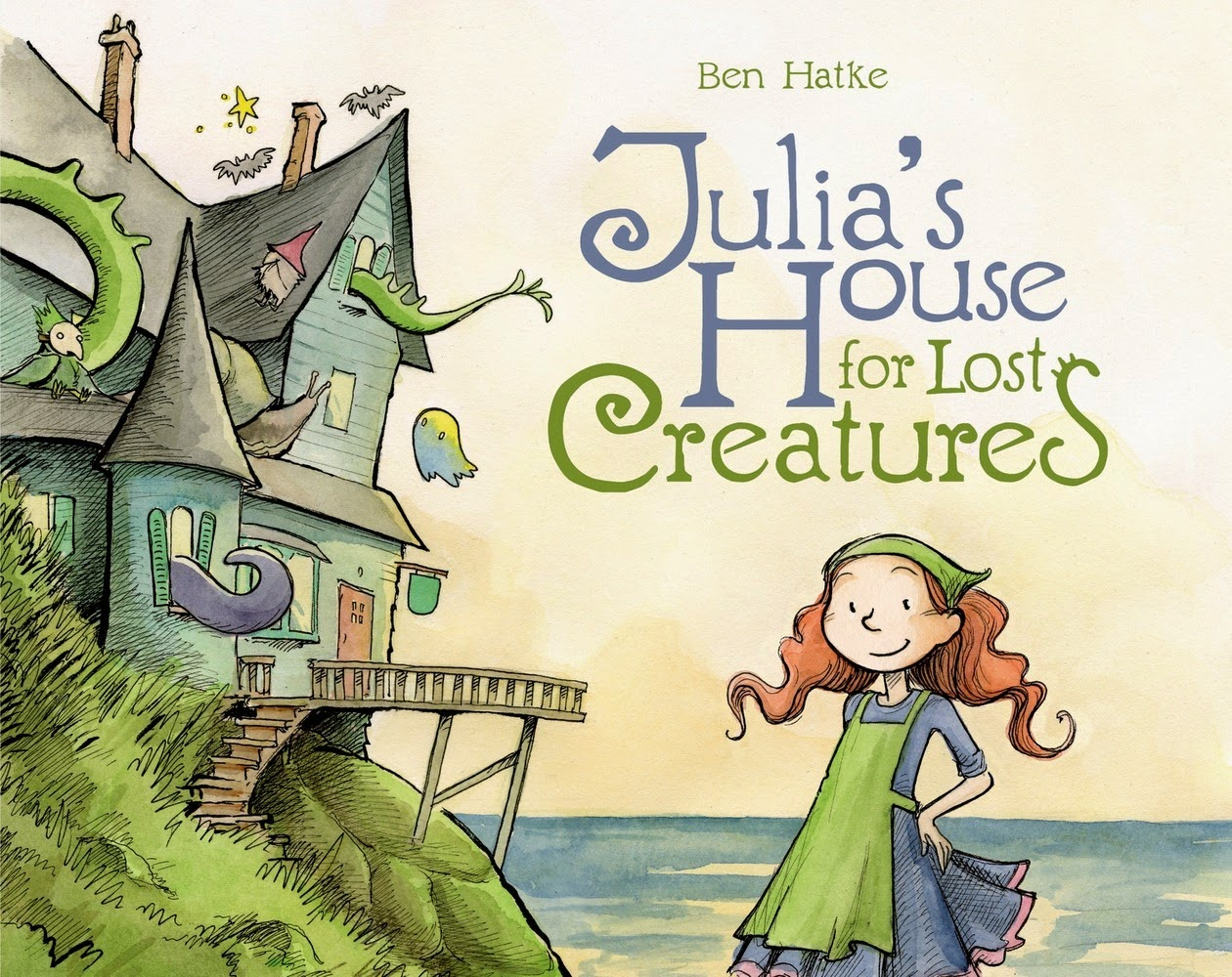 julia's house for lost creatures by ben hatke book cover