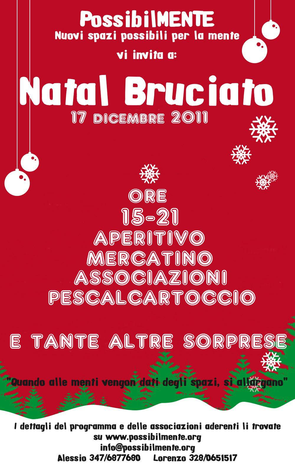 Natal Bruciato 2011. Il Mercatino natalizio di Roma... con qualcosa in più