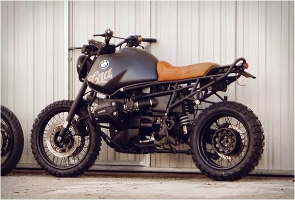"Custom BMW R1100GS | CRD Custom BMW R1100GS by Cafe Racer Dreams of Madrid, For this Project they Choose to customize a BMW R1100GS Into a ""Desert Scrambler"" This BMW Scrambler is still a work in progress waiting for further images and build info"