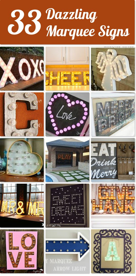 DIY Marquee tutorials