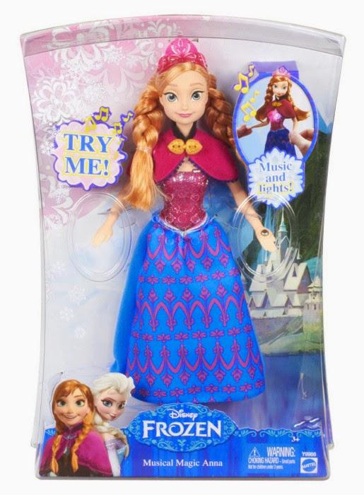 JUGUETES - PRINCESAS DISNEY  Muñeca Anna Música Mágica : Frozen  Producto Oficial | Musical Magic Anna | Mattel A partir de 3 años