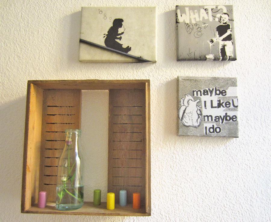 geschwister gezwitscher 1 schublade 2 ideen wandregal. Black Bedroom Furniture Sets. Home Design Ideas