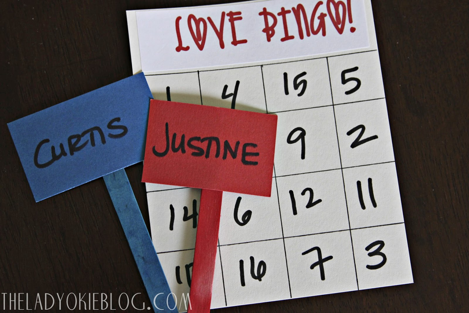 the lady okie love bingo a bridal shower game