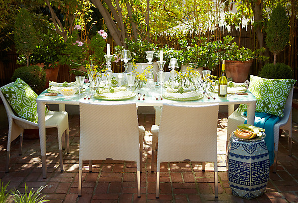 Outdoor Table Decoration Ideas Photograph Spring Decor