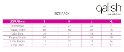 Produk Qallish Kaos Cardigan Koleksi Gamis Muslimah size pack