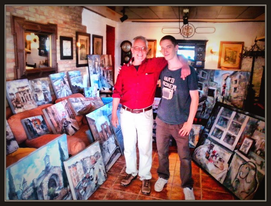 ART AL JARDI-PINEDA DE BAGES-EXPOSICIONS-ARTISTA-PINTOR-ERNEST DESCALS-AYUDANTE-JAN DESCALS-