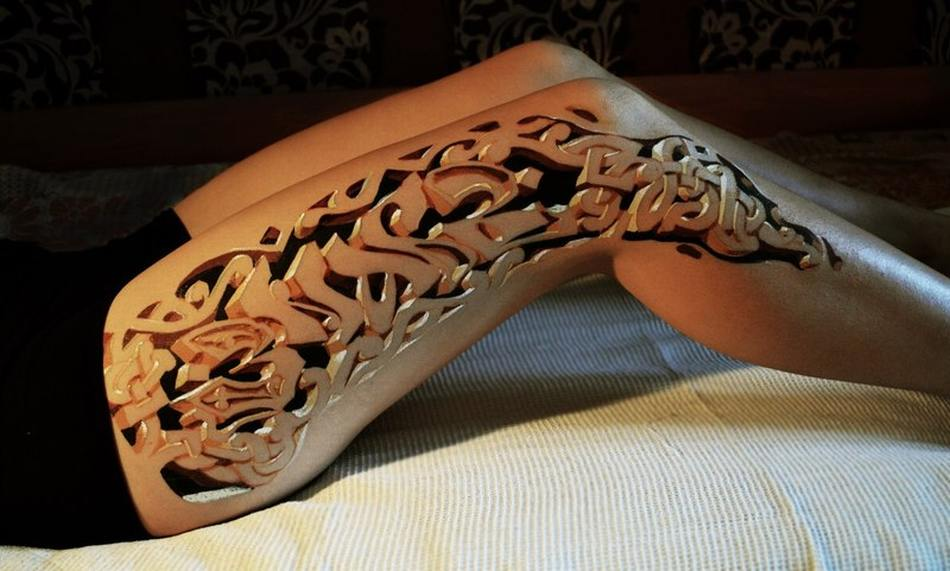 3D Hole Tattoo