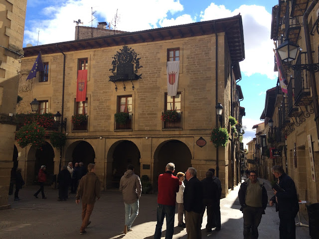 The quaint back streets of the medieval town of Laguardia - Basque Country