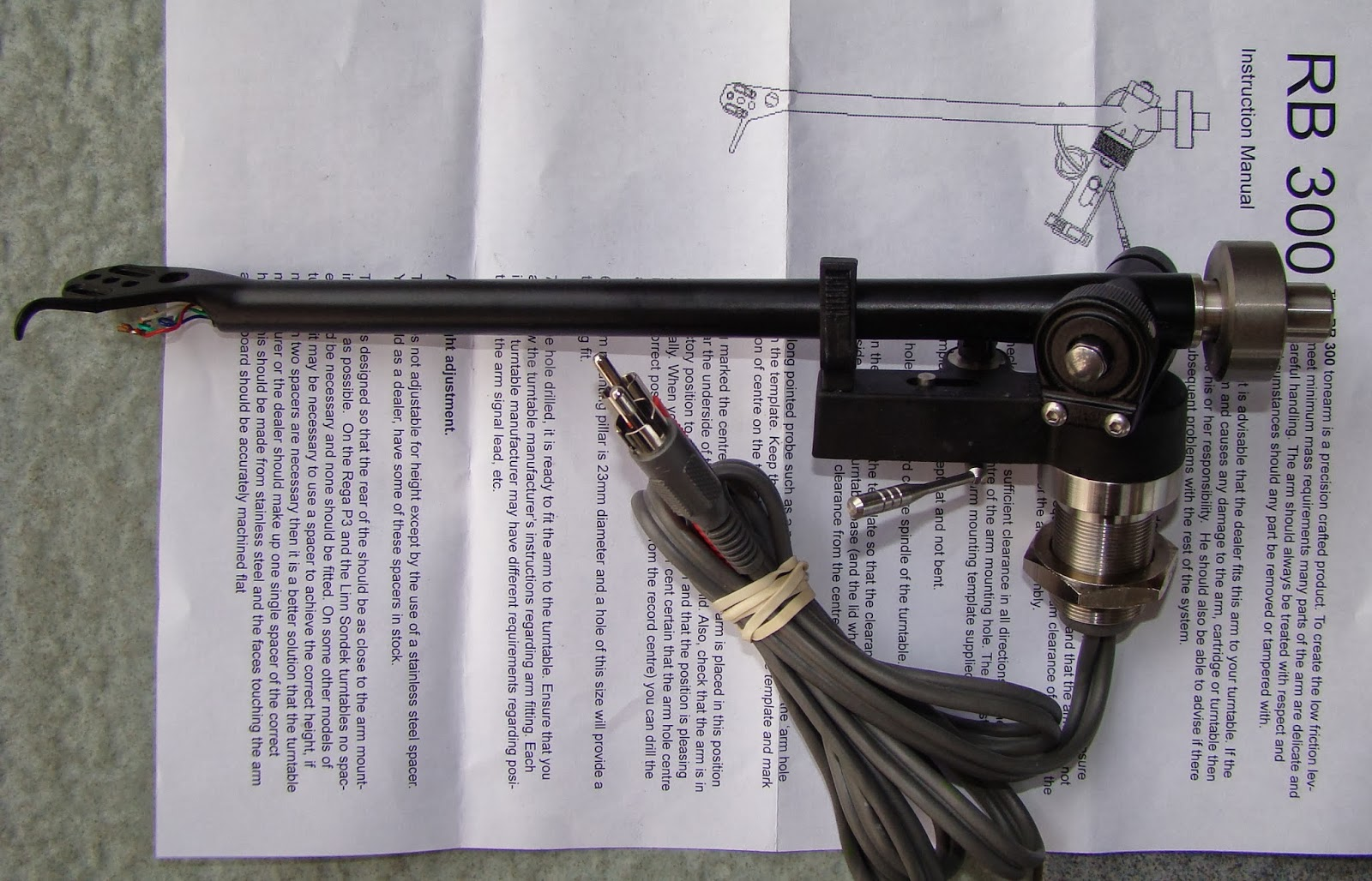 Rega RB300 tonearm SOLD RB300+front