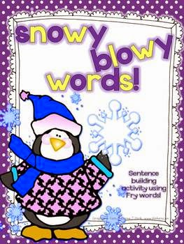 http://www.teacherspayteachers.com/Product/Snowy-Blowy-Words-Fry-sentence-building-activity-1022159