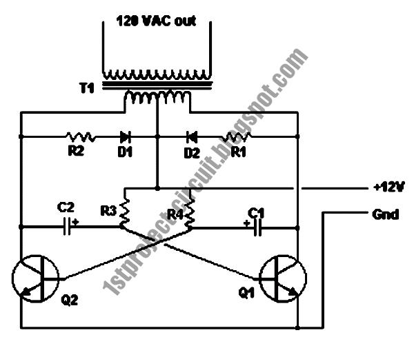 project circuit design  basic inverter circuit