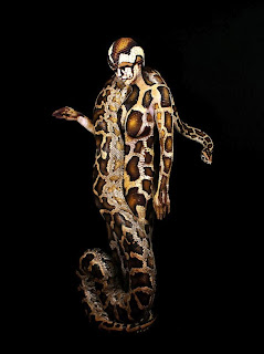 Python Body Painting Animals