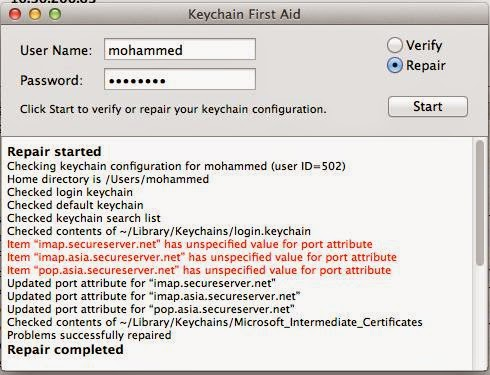 el capitan keeps asking for keychain password