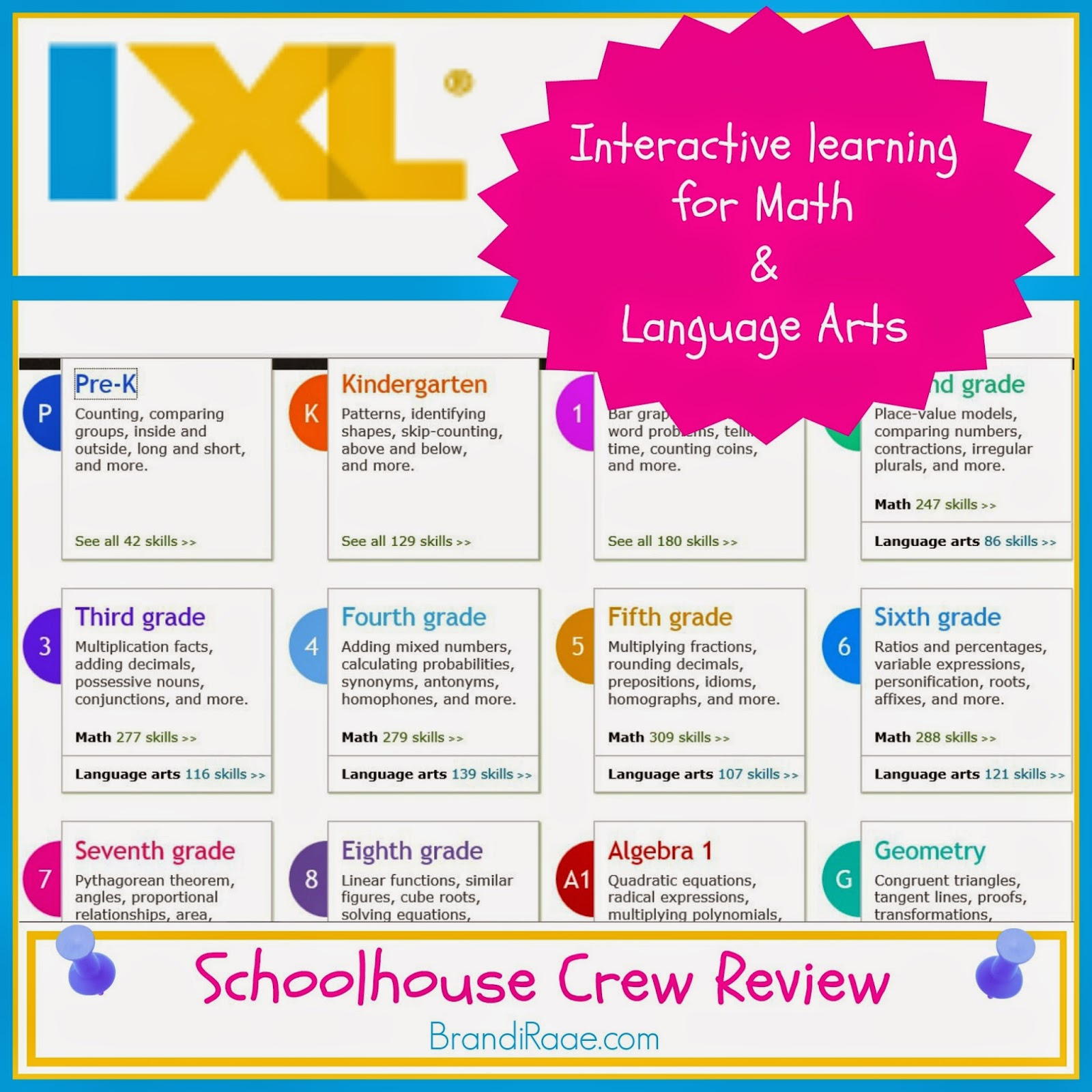 Brandi Raae: IXL ~ Math & Language Arts Learning {Schoolhouse Review}