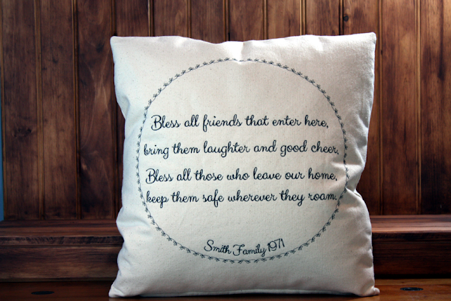 Bless All Friends Housewarming Pillow | Belinda Lee Designs