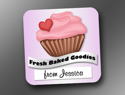 Fresh Baked Goodies Pink & Purple Cupcake Stickers