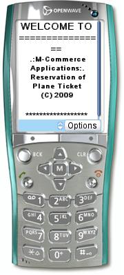 Menu Utama Aplikasi Pemesanan Tiket Pesawat Berbasis WAP