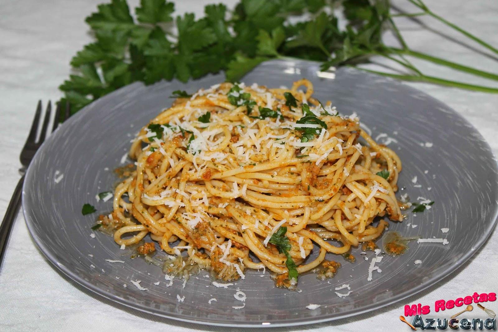 Espaguetis con ...