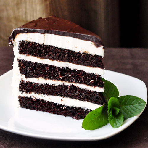 Midnight Mint Chocolate Cake 
