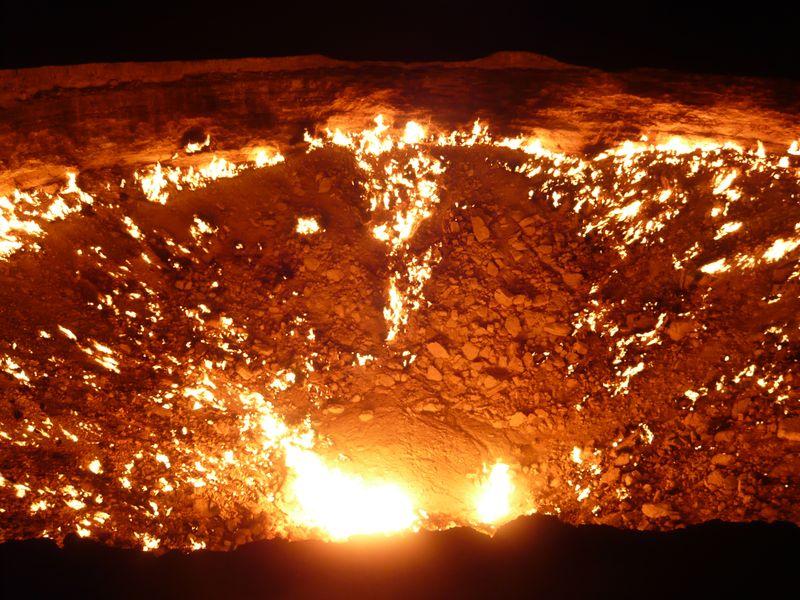Mes pieds ailleurs rendez vous au bout du monde darwaza les portes de l 39 enfer - Les portes de l enfer turkmenistan ...
