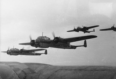 A formation of Dornier Do-17s circa 1940