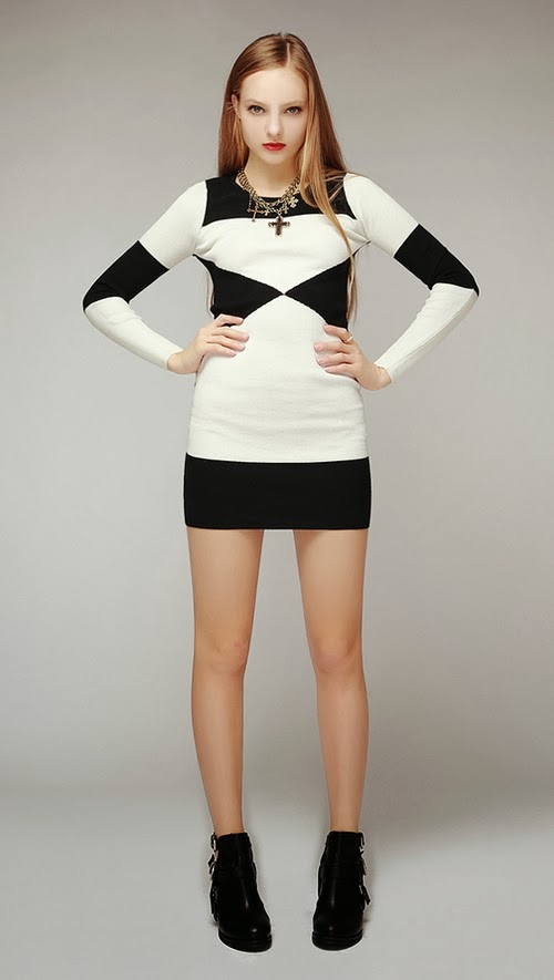 Body Block Knit Dress