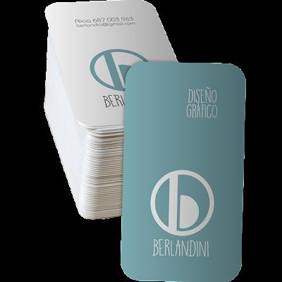 Mock up tarjetas de visita identidad corporativa Berlandini